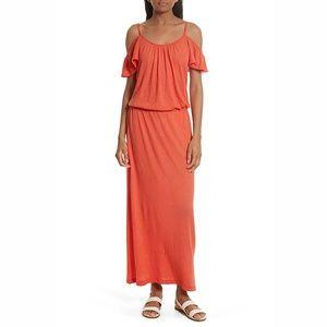 Soft Joie Jassina Jersey Blouson Maxi Dress Orange